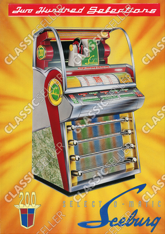 Seeburg Select O-Matic 200 Musikbox Jukebox Poster Plakat Bild