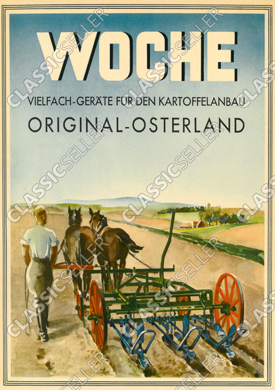 "Week ""Multiple devices for potato cultivation"" Original-Osterland Poster Picture"