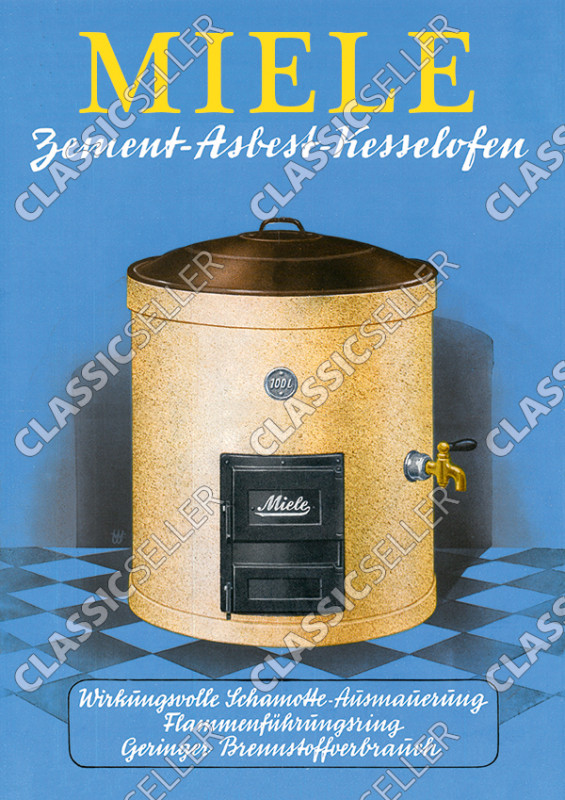 Miele cement-asbestos boiler furnace Poster Picture