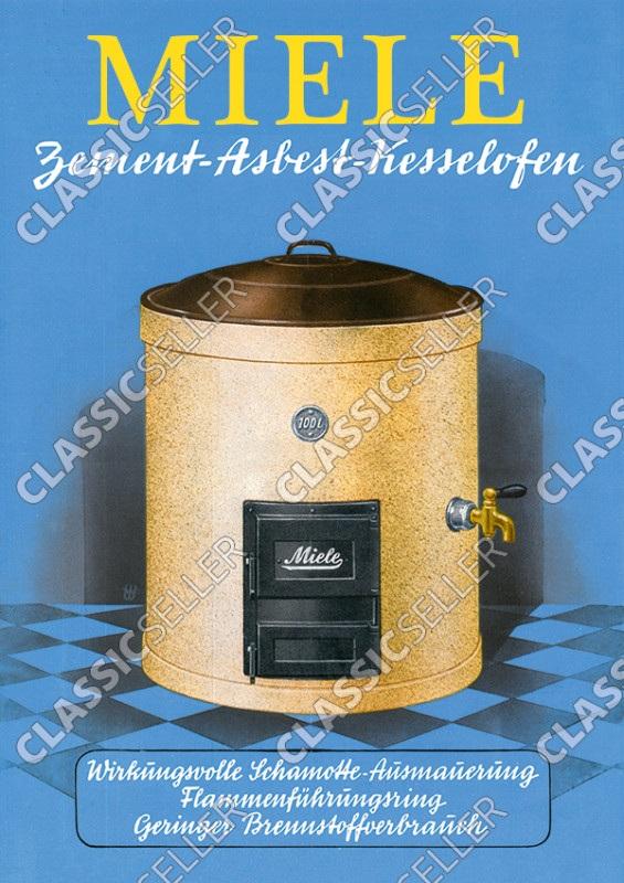 Miele Zement-Asbest Kesselofen Poster Plakat Bild