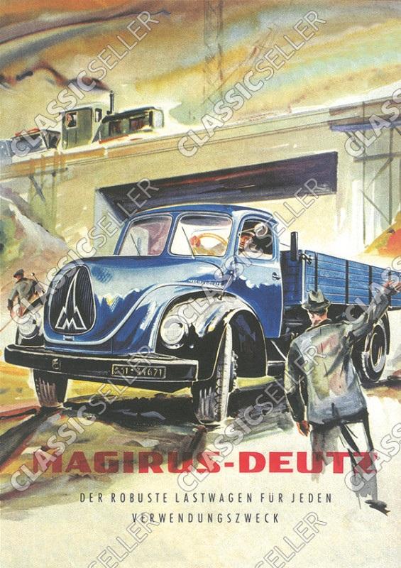 """Magirus-Deutz """"Der robuste Lastwagen für jeden Verwendungszweck"""" Poster Plakat Bild"""