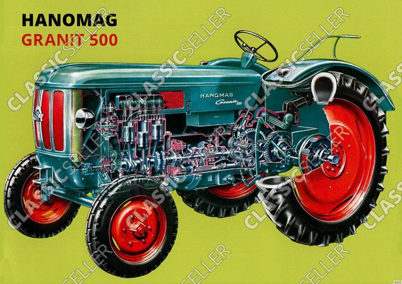 Hanomag Granit 500 Schlepper Traktor Poster Plakat Bild