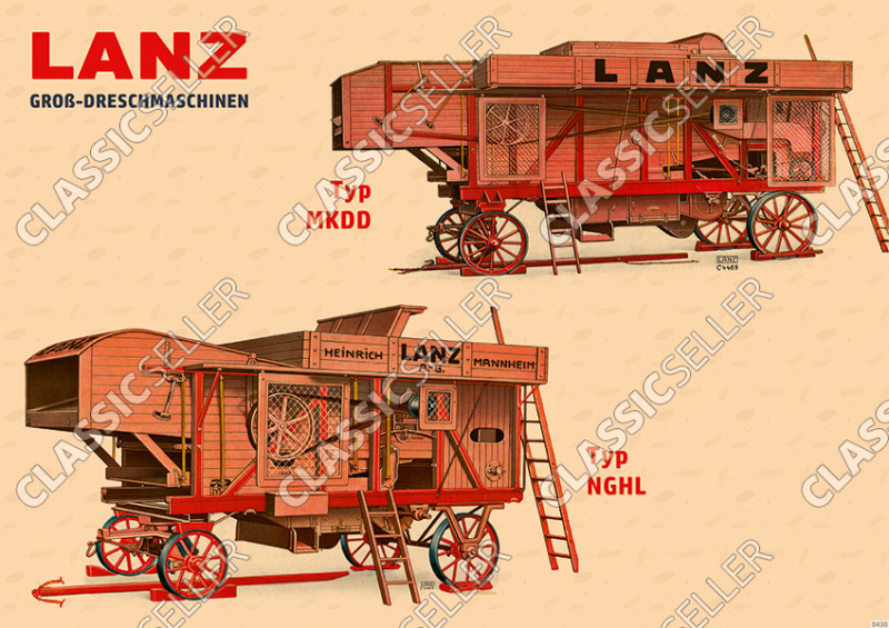 Lanz Large threshing machines MKDD NGHL Poster Picture