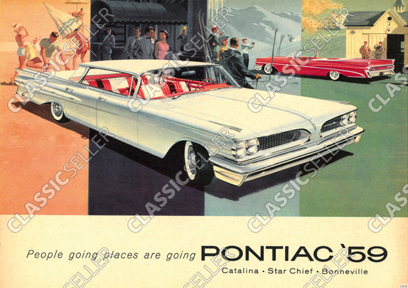 Pontiac 1959 Catalina Star Chief Bonneville Auto PKW Poster Plakat Bild
