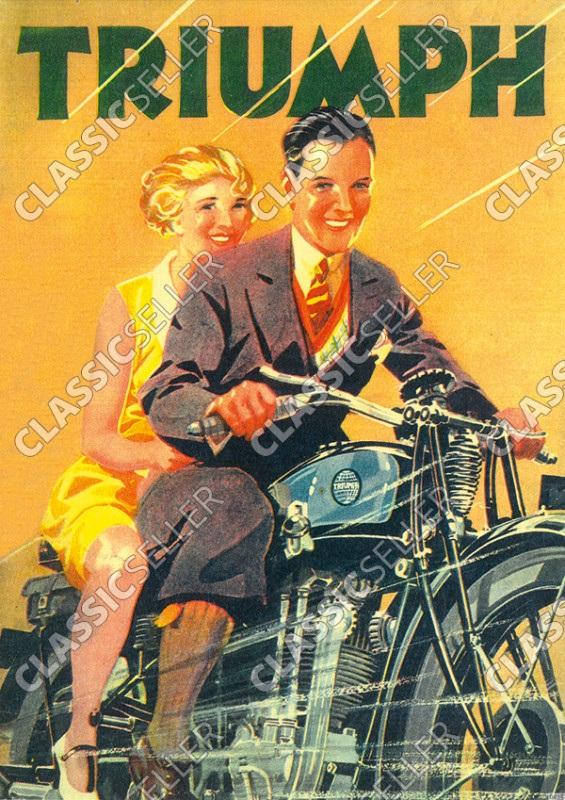 Triumph Motorrad Motorräder Poster Plakat Bild