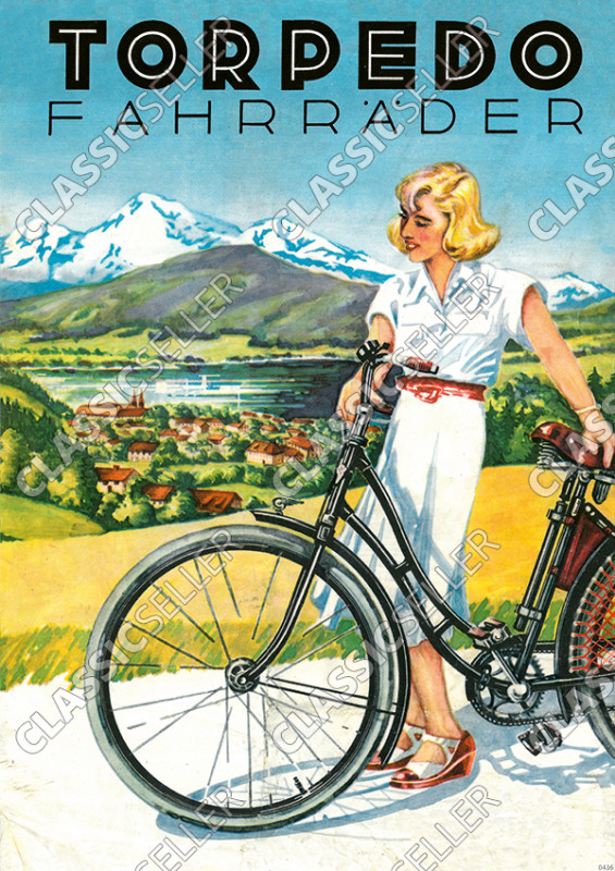 Torpedo Bicycles Bicycle Advertisement Advertisement Poster Picture