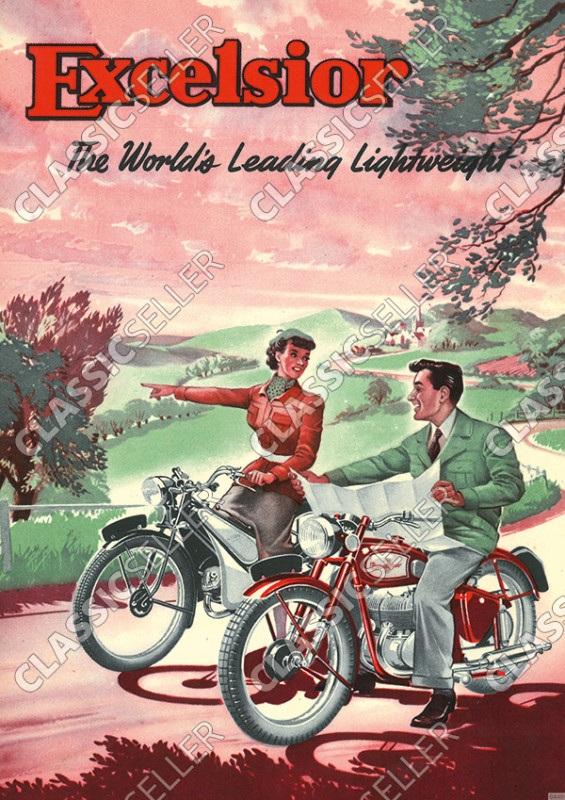 Excelsior Motorräder Motorrad Poster Plakat Bild