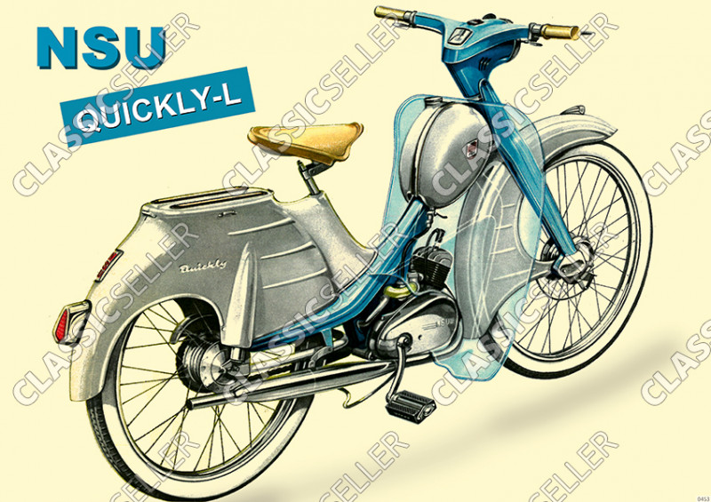 NSU Quickly-L Quickly L Moped Poster Plakat Bild
