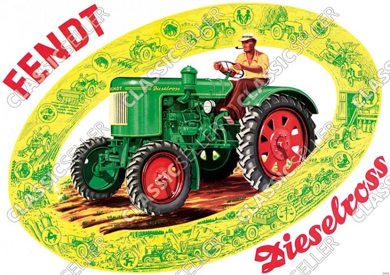 Fendt Dieselross Tractor Poster Picture