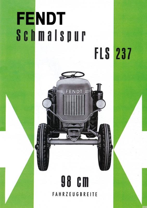 Fendt narrow gauge FLS 237 Tractor advertising Poster Picture