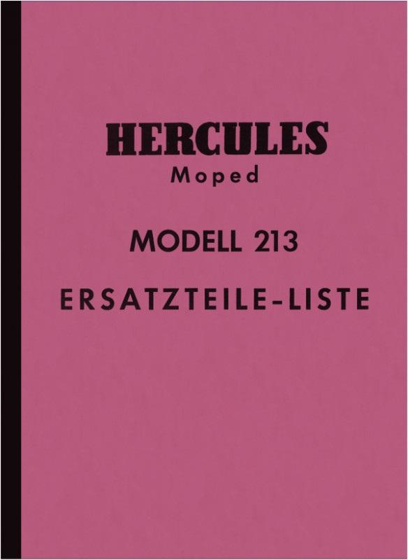 Hercules Modell 213 Moped Ersatzteilliste Ersatzteilkatalog