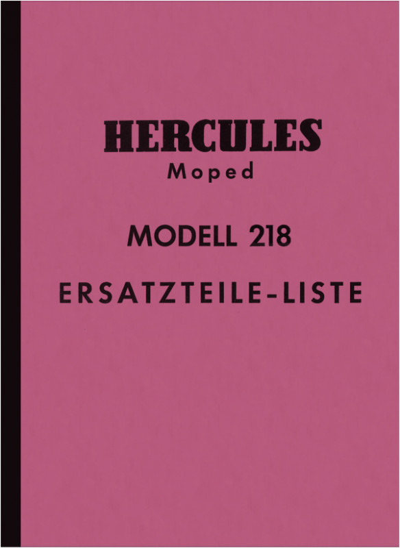 Hercules Model 218 Moped Spare Parts List Spare Parts Catalog