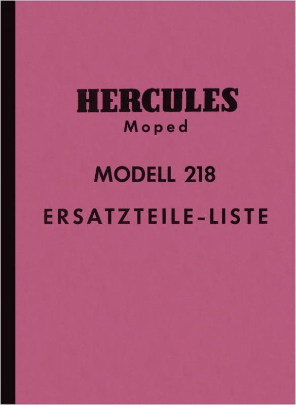 Hercules Modell 218 Moped Ersatzteilliste Ersatzteilkatalog