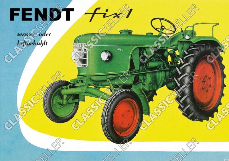 Fendt Fix 1 Dieselross Tractor advertising Poster Picture