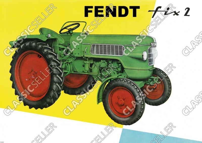 Fendt Fix 2 Dieselross Tractor advertising Poster Picture