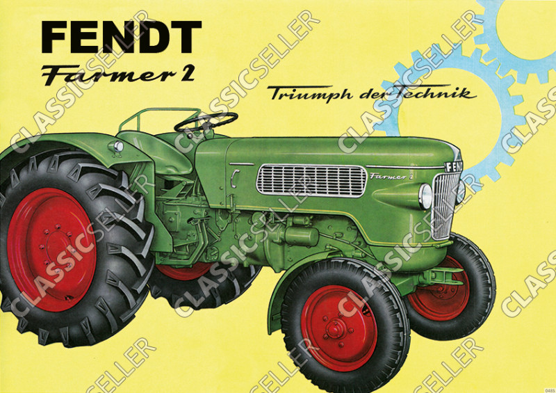 Fendt Farmer 2 Dieselross Schlepper Traktor Reklame Poster Plakat Bild