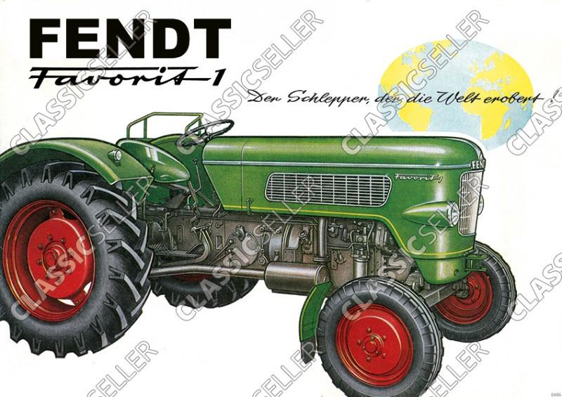 Fendt Favorit 1 Dieselross Tractor advertising Poster Picture
