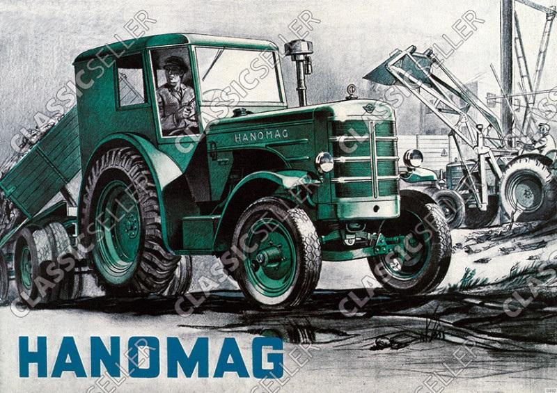 Hanomag R 45 R45 Schlepper Traktor Diesel Reklame Poster Plakat Bild