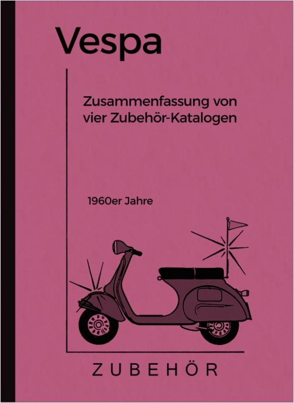 Vespa Motorroller Zubehörkatalog 60er Jahre, Zusammenfassung von vier Zubehör-Katalogen